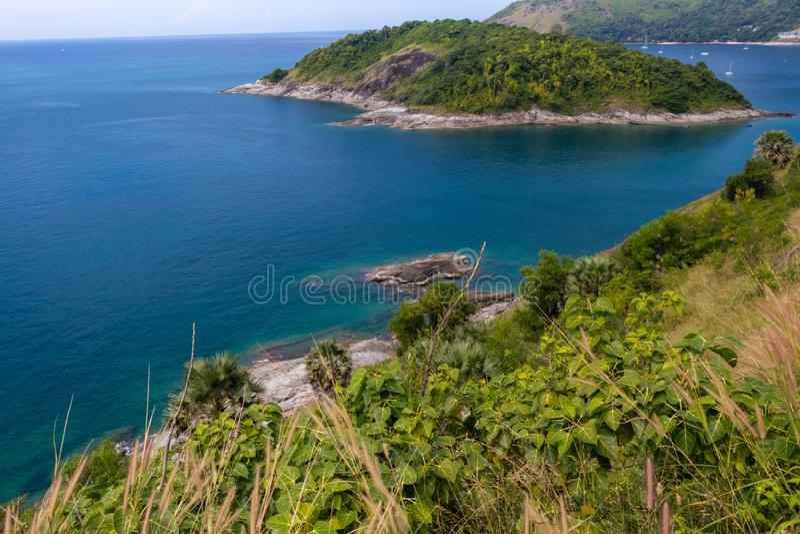 Красивый моря и природы на острове на провинции Пхукета, Таиланде стоковое фото
