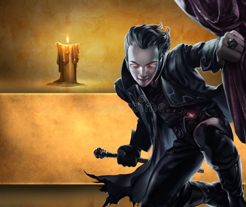 Красивый мужской вампир бесплатная иллюстрация