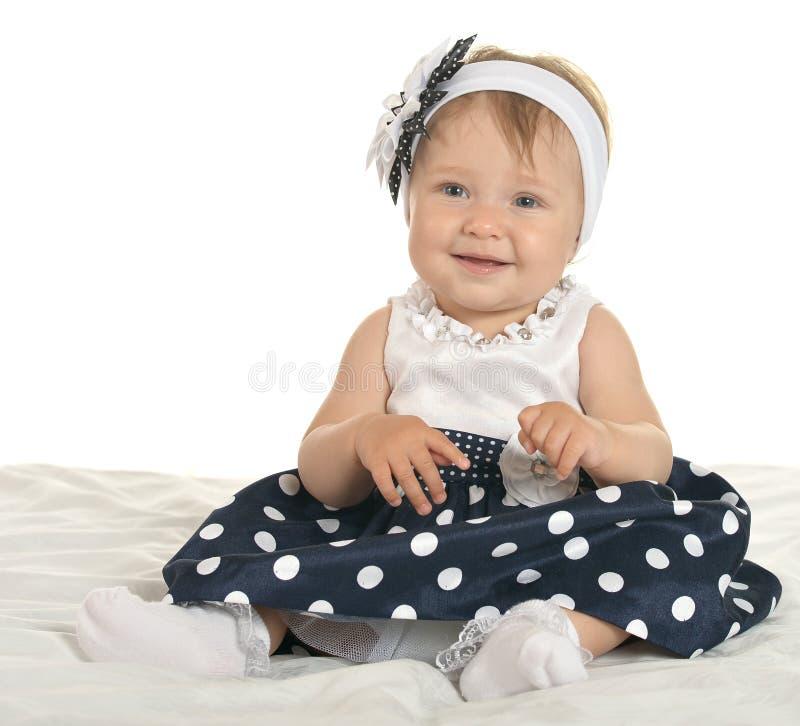 Красивый младенец в милом платье стоковые изображения