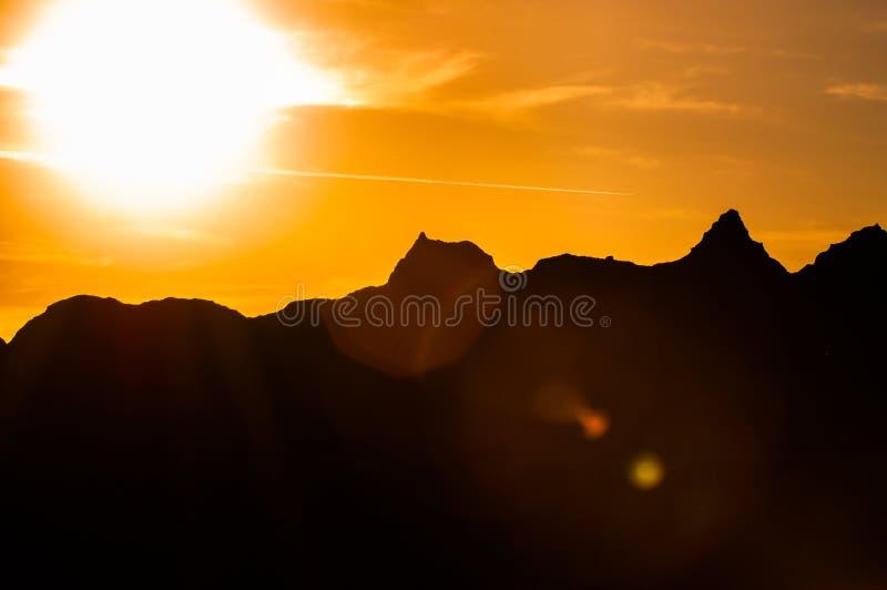 Красивый национальный парк Южная Дакота неплодородных почв захода солнца стоковая фотография rf