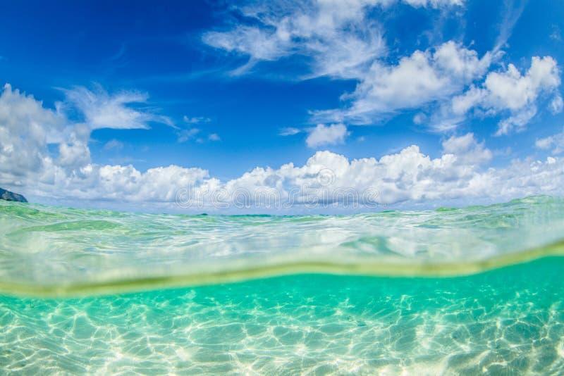 Красивый океан Гаваи стоковые фото