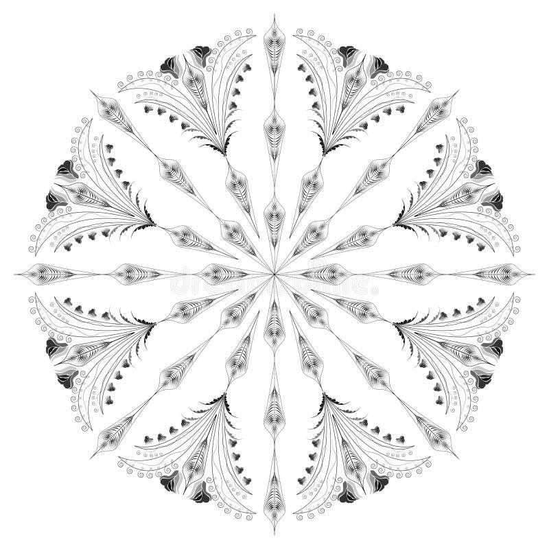 Download Красивый орнамент иллюстрация вектора. иллюстрации насчитывающей цветки - 33737300