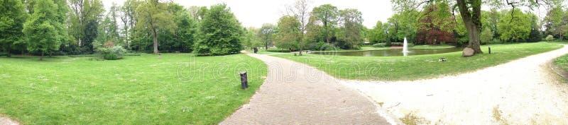 Красивый парк в Голландии, взгляде панорамы стоковые изображения rf