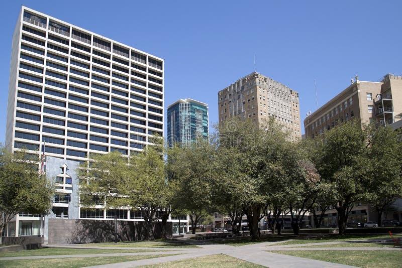 Красивый парк Burnett в городе Fort Worth стоковая фотография