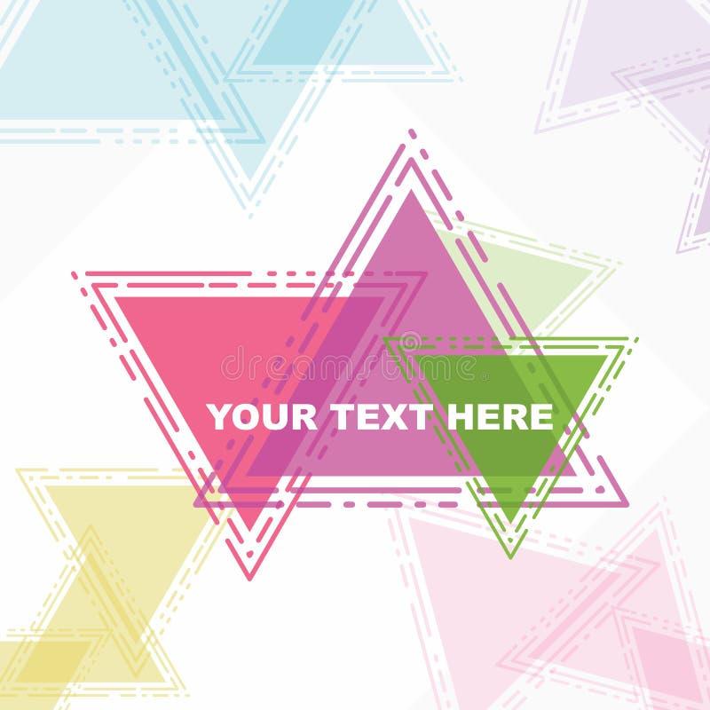 Красивый плакат поздравительной открытки в красочном абстрактном треугольнике иллюстрация вектора