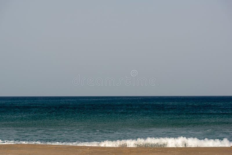 Красивый пляж Средиземного моря в Греции стоковое фото