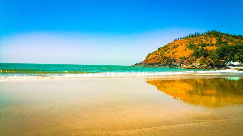Красивый пляж Gokarna в karnataka, Индии стоковые фото