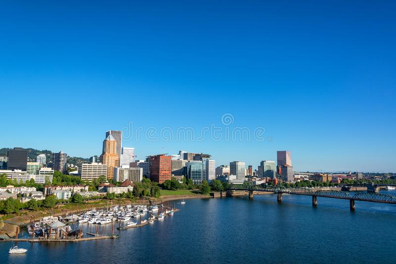 Красивый Портленд, городской пейзаж Орегона стоковое изображение