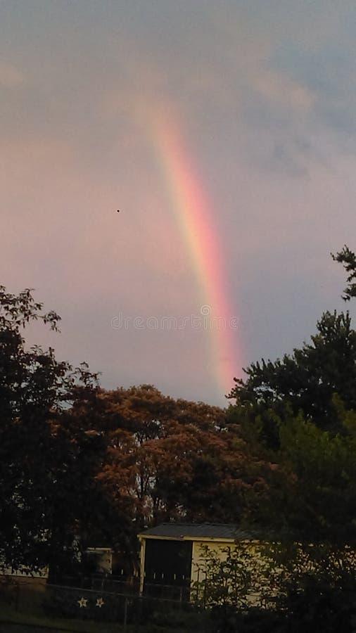 Красивый после радуги стоковое фото rf