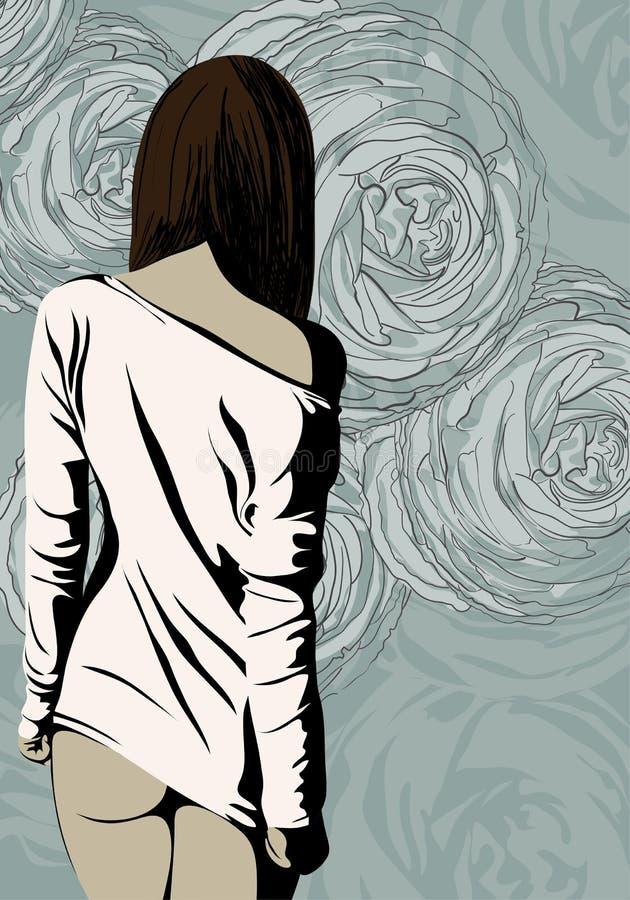 Download Красивый представлять женщины Иллюстрация вектора - иллюстрации насчитывающей конструкция, девушка: 33734393