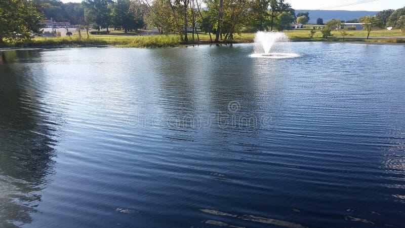 Красивый пруд для рыбалки стоковая фотография rf