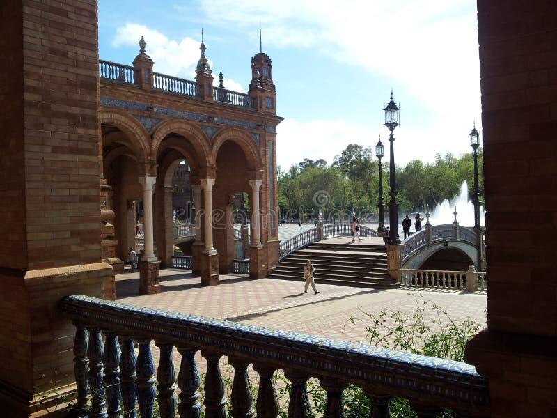 Красивый распорядок через старый городок Севильи Испании 7 стоковые изображения rf