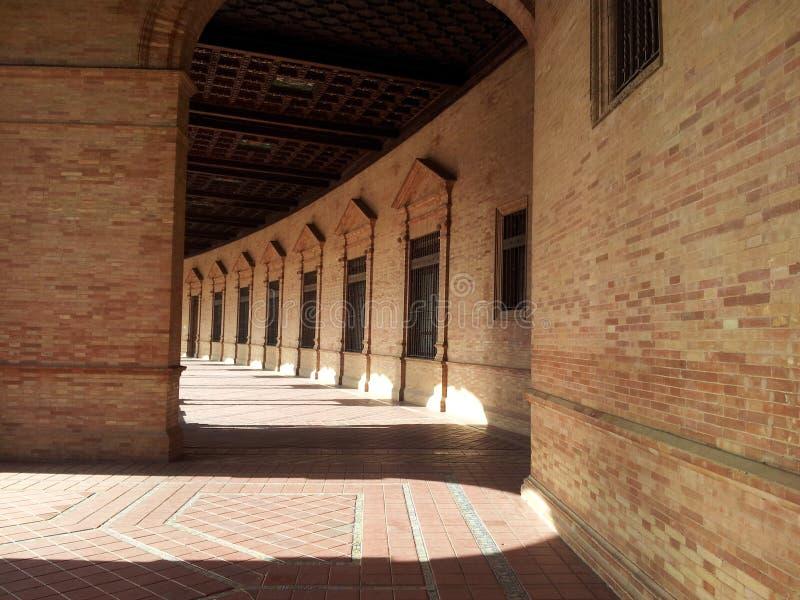 Красивый распорядок через старый городок Севильи Испании 4 стоковое фото rf