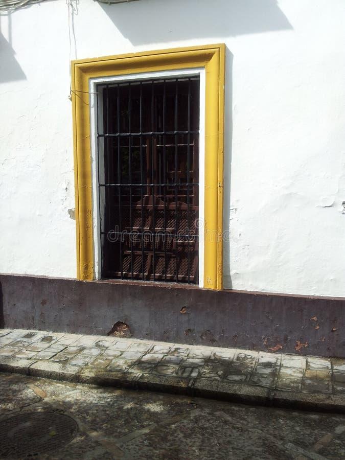 Красивый распорядок через старый городок Севильи Испании 3 стоковые изображения rf