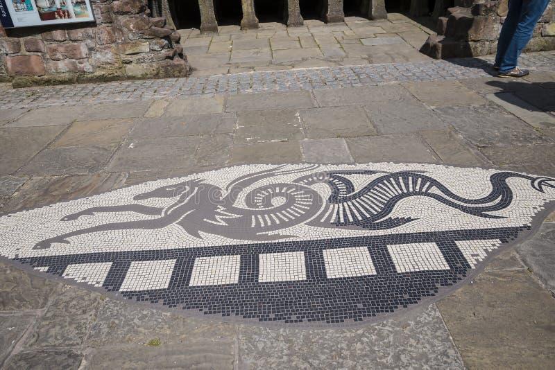 Красивый римский сад в Честере город графства Чешира в Англии стоковые изображения rf