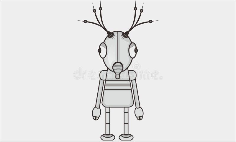 Красивый робот иллюстрация вектора