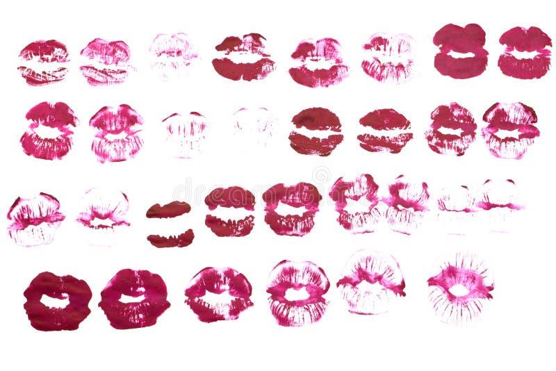 Красивый розовый лоск губы иллюстрация вектора