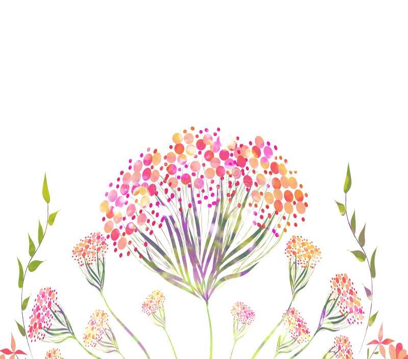 Красивый розовый цветок, картина акварели бесплатная иллюстрация