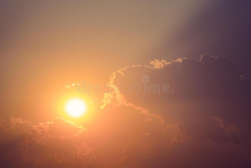 Красивый свет захода солнца стоковые изображения rf