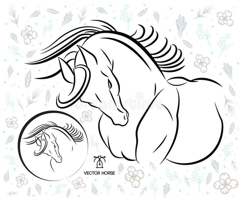 Красивый силуэт вектора лошади бесплатная иллюстрация