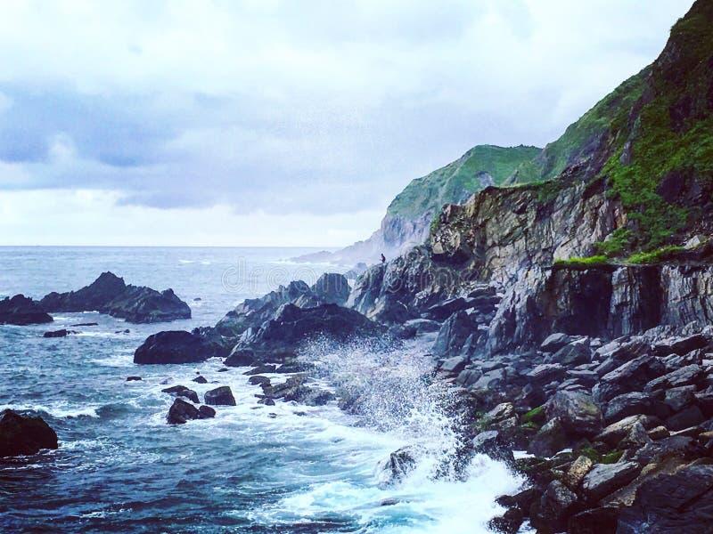 Красивый скалистый costal пейзаж стоковая фотография rf