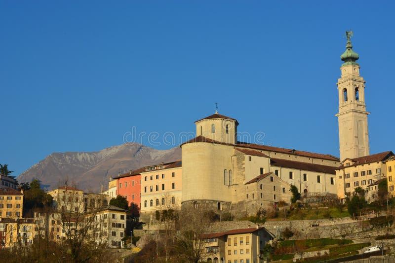 Красивый собор города Беллуно, католической церкви стоковая фотография
