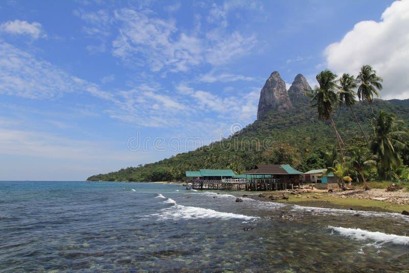 Красивый спокойный пляж острова Tioman, Малайзии стоковые изображения