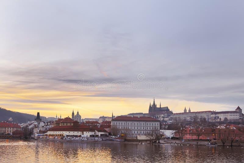 Красивый старый город Праги стоковая фотография rf