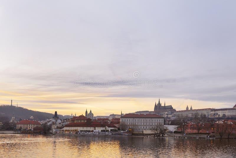 Красивый старый город Праги стоковые фото