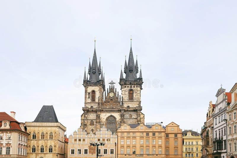 Красивый старый город Праги стоковое изображение rf
