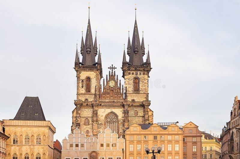 Красивый старый город Праги стоковые изображения