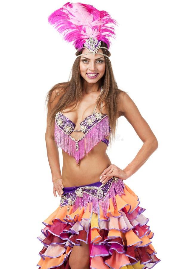 Красивый танцор масленицы, изумительный костюм стоковая фотография