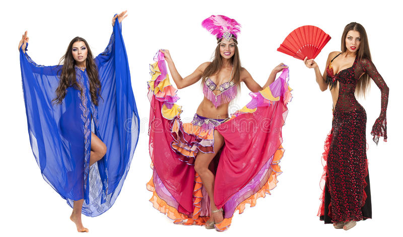 Красивый танцор масленицы, изумительный костюм стоковое изображение rf