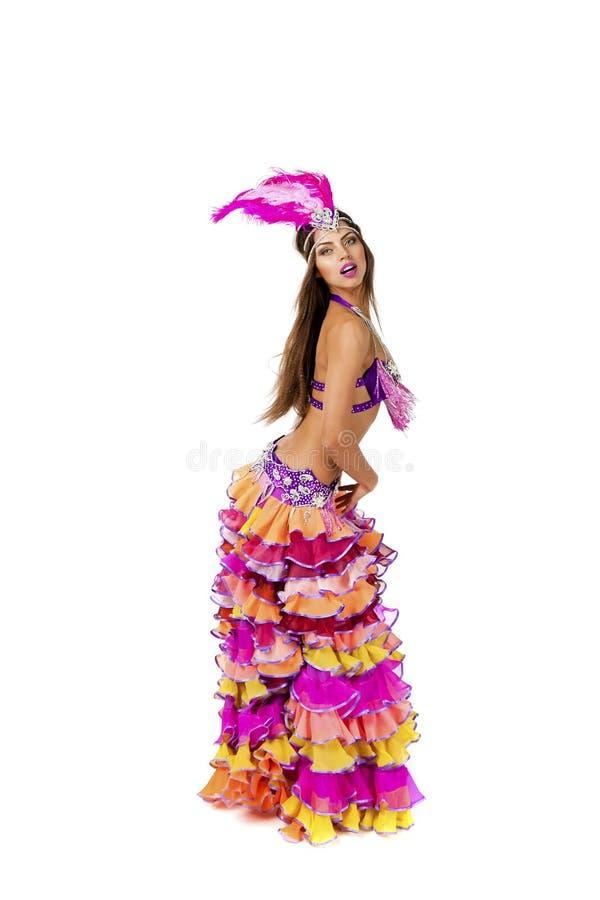 Красивый танцор масленицы, изумительный костюм стоковое фото