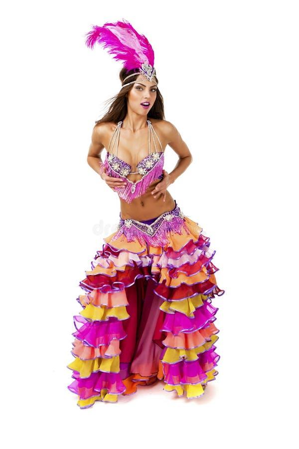 Красивый танцор масленицы, изумительный костюм стоковые фото