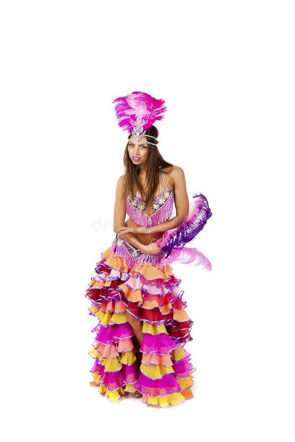 Красивый танцор масленицы, изумительный костюм стоковое изображение