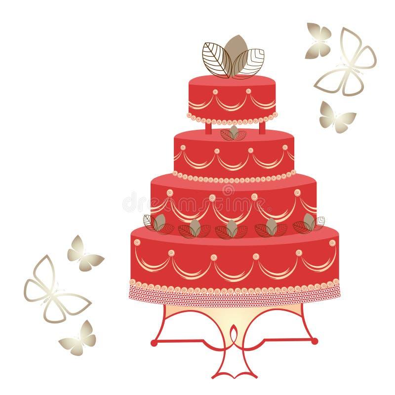 Красивый торт иллюстрация штока