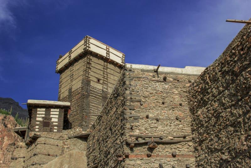 Красивый форт altit на hunza GB стоковые изображения