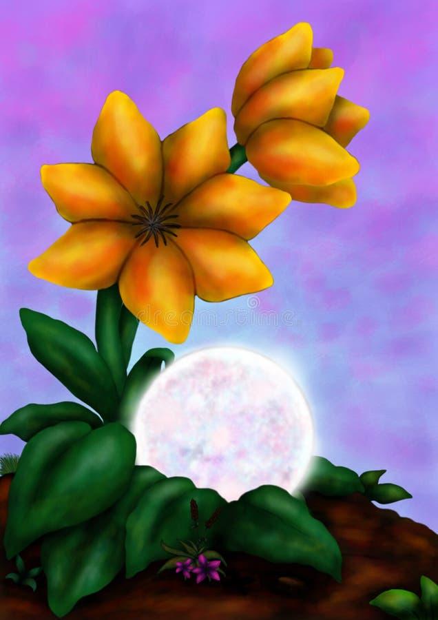 Красивый цветок 2 (сила цветка, 2016) иллюстрация вектора