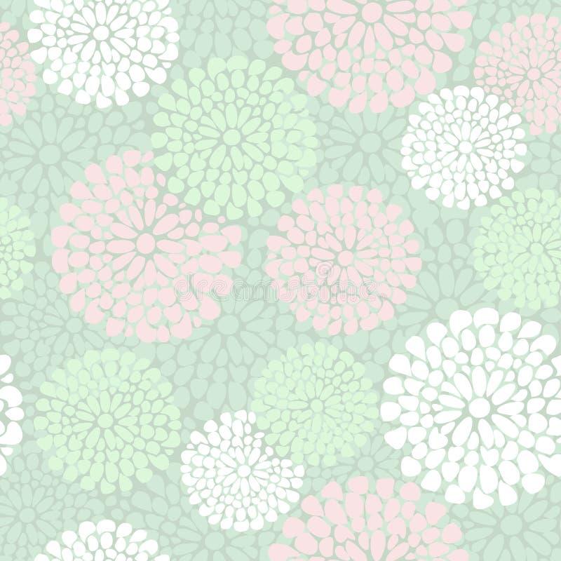 Красивый цветочный узор в пинке и цвете мяты, бесплатная иллюстрация