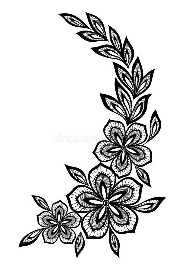 Красивый цветочный узор, элемент дизайна в  бесплатная иллюстрация