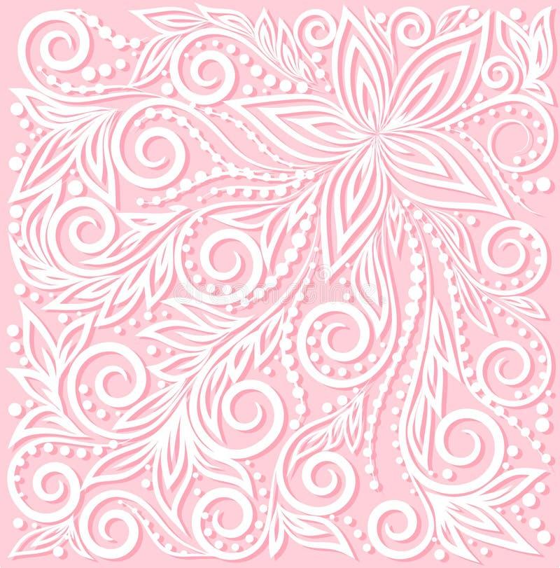 Красивый цветочный узор, элемент дизайна в  иллюстрация вектора