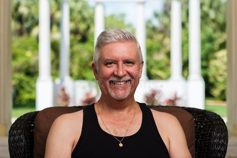 Красивый человек среднего возраста стоковые изображения rf