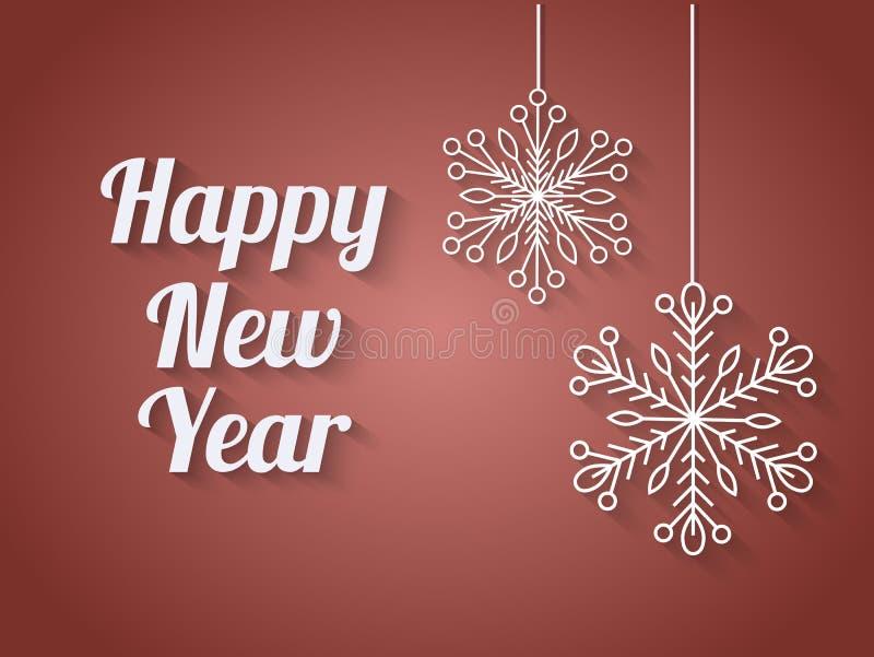 Красивый элегантный дизайн текста счастливого Нового Года также вектор иллюстрации притяжки corel бесплатная иллюстрация