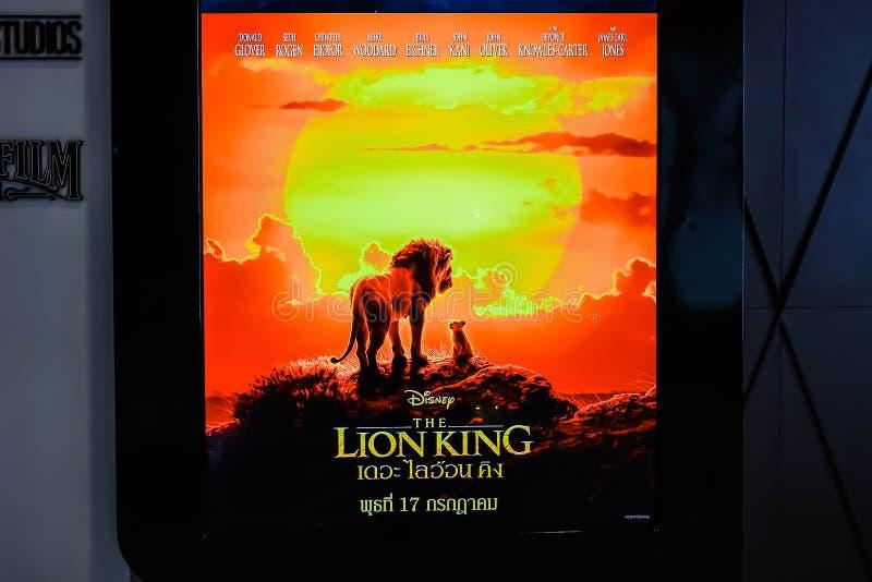 Красивый standee фильма вызвал дисплей Льва короля на кино для того чтобы повысить фильм стоковое изображение