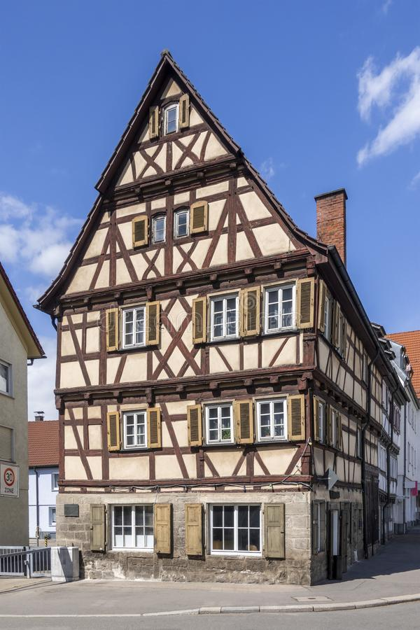 красивый timbered дом в Sindelfingen Германии стоковые изображения rf