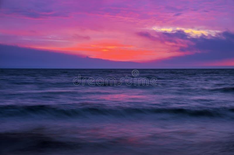 Красивый twilight ландшафт стоковая фотография rf
