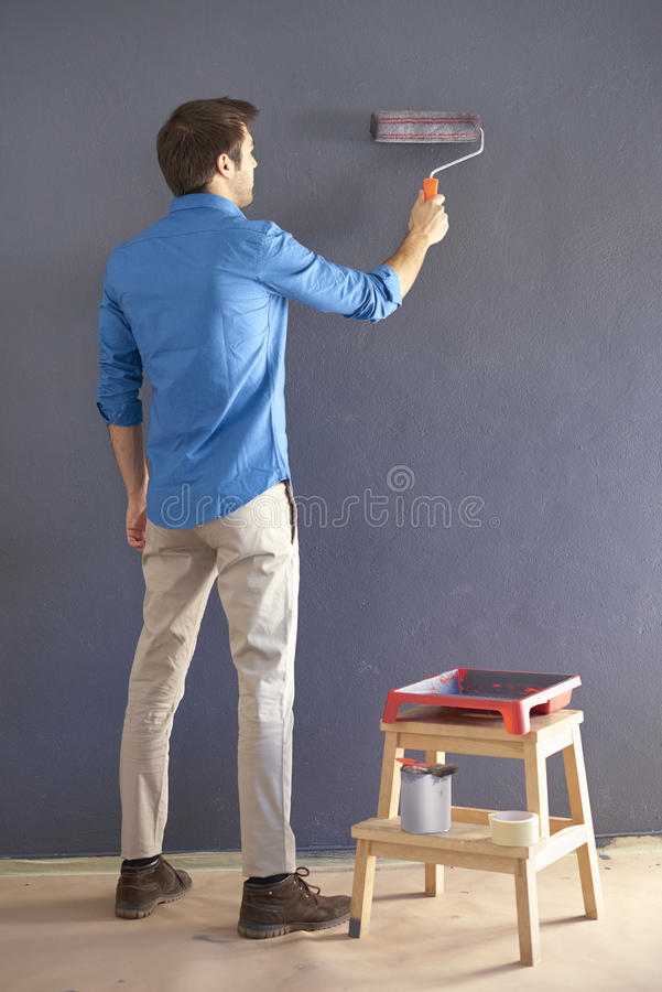 Красить стену стоковое фото rf