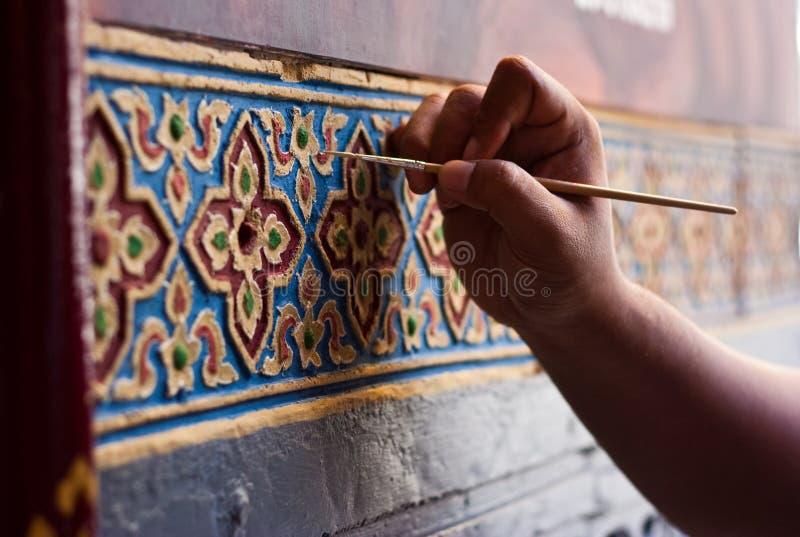 красить тайской стоковые фото