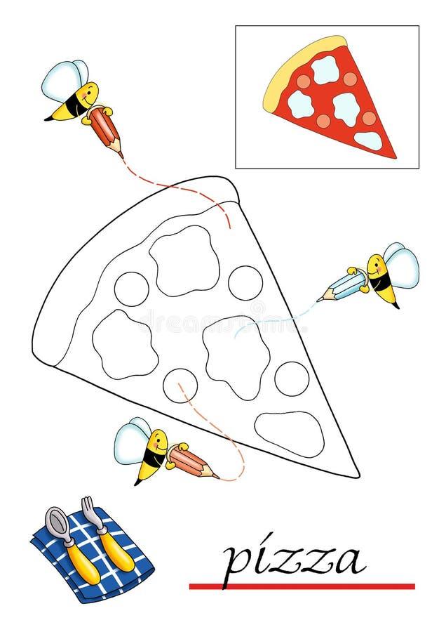 красить 2 детей книги иллюстрация вектора